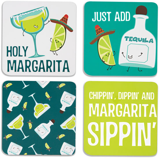 Margarita Beverage Coaster 4pc Set with Box