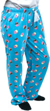 Cupcakes Ultra Light Blue Unisex Lounge Pajama Pants