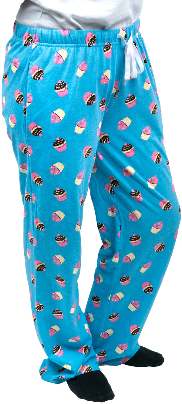 Cupcakes Ultra Light Blue Unisex Lounge Pajama Pants Lounge Pants - Beloved Gift Shop