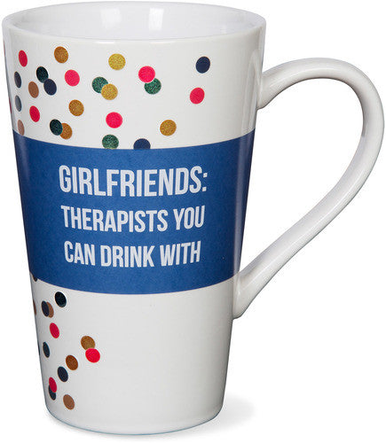 Girlfriends Therapists you can drink with Latte Mug Latte Mug - Beloved Gift Shop