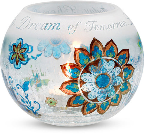Cherish Yesterday, Dream of Tomorrow, Live for Today... -  Candle Holder by Perfectly Paisley - Beloved Gift Shop