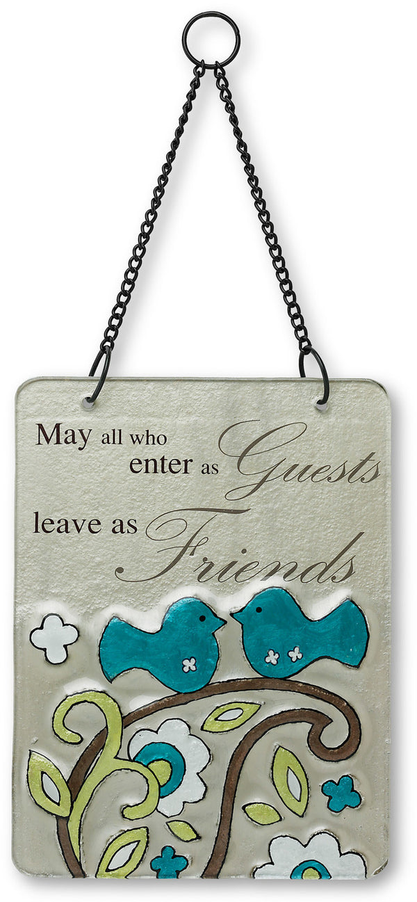Friends Hanging Glass Plaque Plaque - Beloved Gift Shop