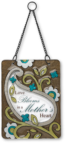 Mother Hanging Glass Plaque Plaque - Beloved Gift Shop
