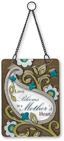 Mother Hanging Glass Plaque by Perfectly Paisley - Beloved Gift Shop