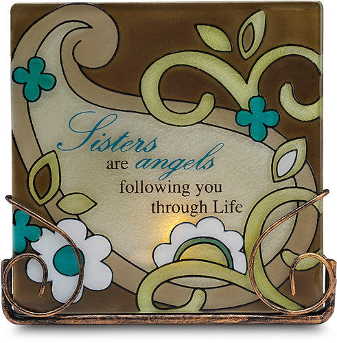 Sisters are angels following you through life - Tea Light Candle Holder by Perfectly Paisley - Beloved Gift Shop