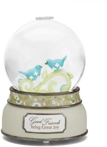 Good Friends bring Great Joy Musical Water Globe Water Globe - Beloved Gift Shop