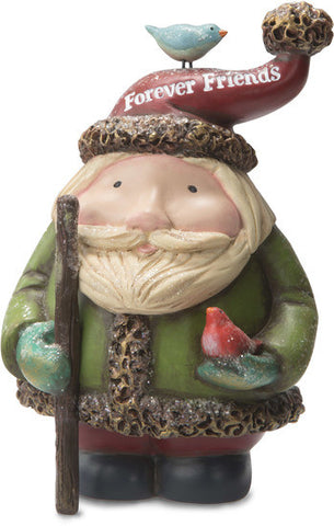 Forever Friends Santa with Bird Figurine by Roly Poly Christmas - Beloved Gift Shop