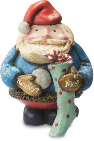 Naughty or Nice? Santa with Stocking Figurine by Roly Poly Christmas - Beloved Gift Shop