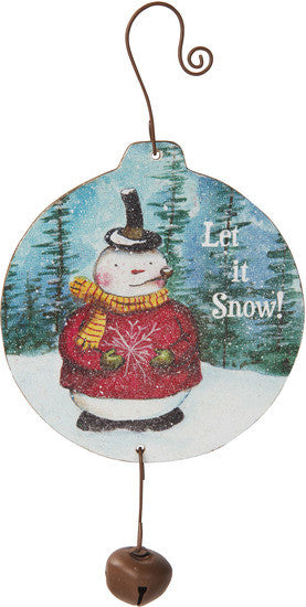 Let it snow! MDF Wood Christmas Ornament by Roly Poly Christmas - Beloved Gift Shop