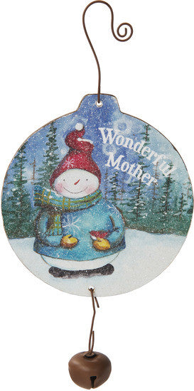 Wonderful mother MDF Wood Christmas Ornament by Roly Poly Christmas - Beloved Gift Shop