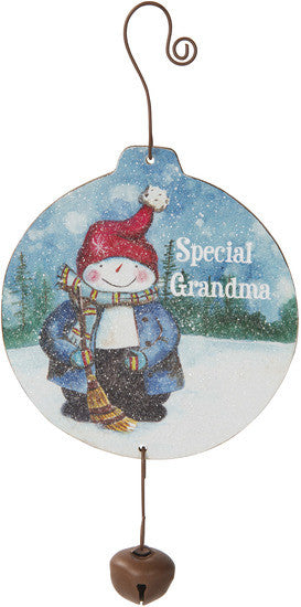 Special grandma MDF Wood Christmas Ornament by Roly Poly Christmas - Beloved Gift Shop