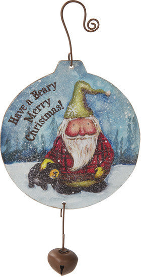 Have a beary merry Christmas! MDF Wood Ornament by Roly Poly Christmas - Beloved Gift Shop