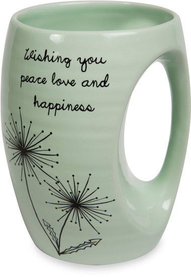 Wishing you peace love and happiness Coffee & Tea Mug by Dandelion Wishes - Beloved Gift Shop
