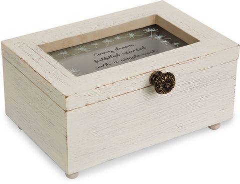Every dream fulfilled started with a simple wish Keepsake Jewelry Box by Dandelion Wishes - Beloved Gift Shop
