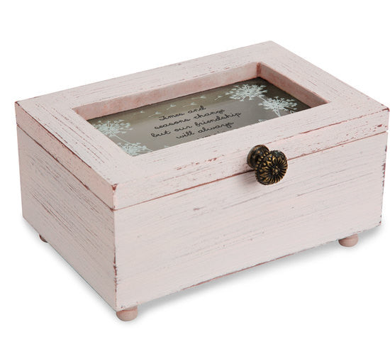 Times and seasons change but our friendship will always remain Keepsake Jewelry Box by Dandelion Wishes - Beloved Gift Shop