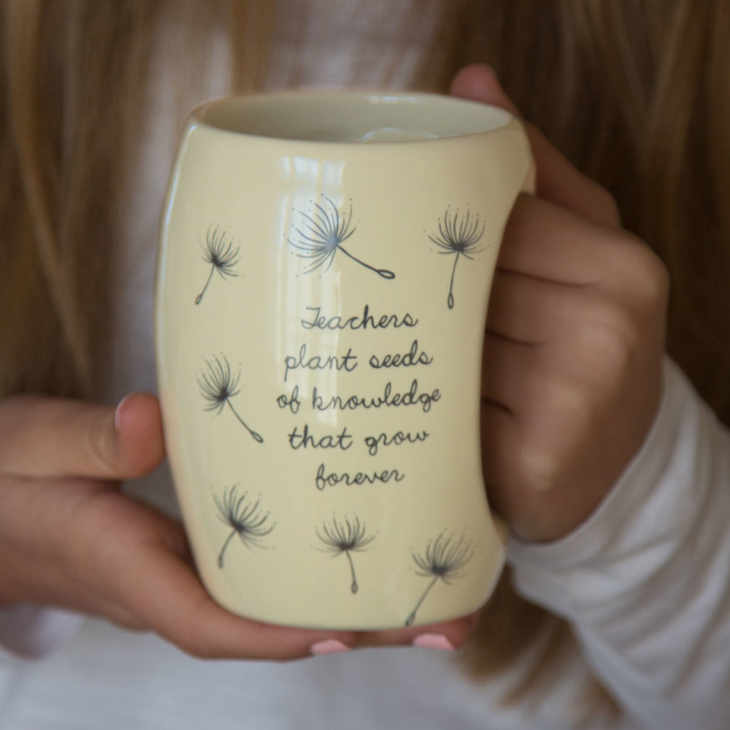 Teachers plant seeds of knowledge that grow forever Mug by Dandelion Wishes - Beloved Gift Shop