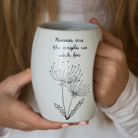 Nurses are the angels we wish for Mug by Dandelion Wishes - Beloved Gift Shop