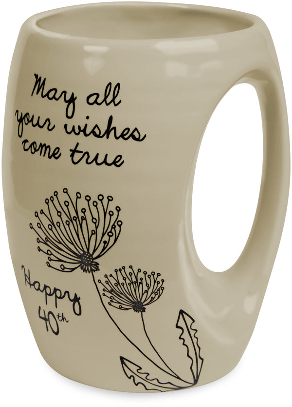 May all your wishes come true. Happy 40th Coffee Tea Beverage Mug Mug - Beloved Gift Shop