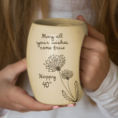 May all your wishes come true. Happy 40th Coffee Mug Mug - Beloved Gift Shop