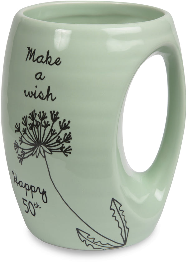 Make a wish. Happy 50th Coffee Tea Beverage Mug Mug - Beloved Gift Shop