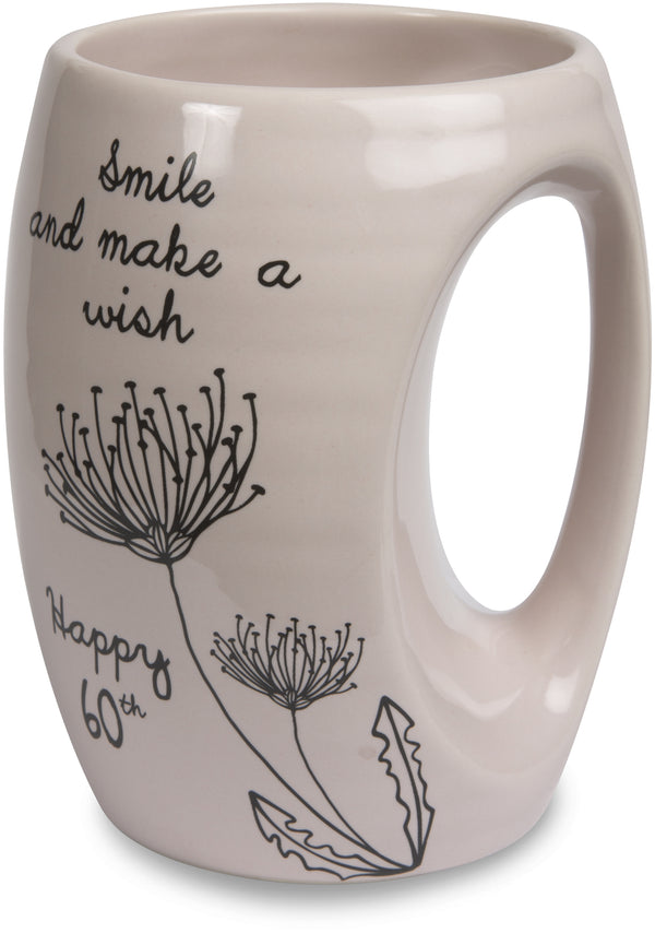 Smile and make a wish. Happy 60th Coffee Tea Beverage Mug Mug - Beloved Gift Shop