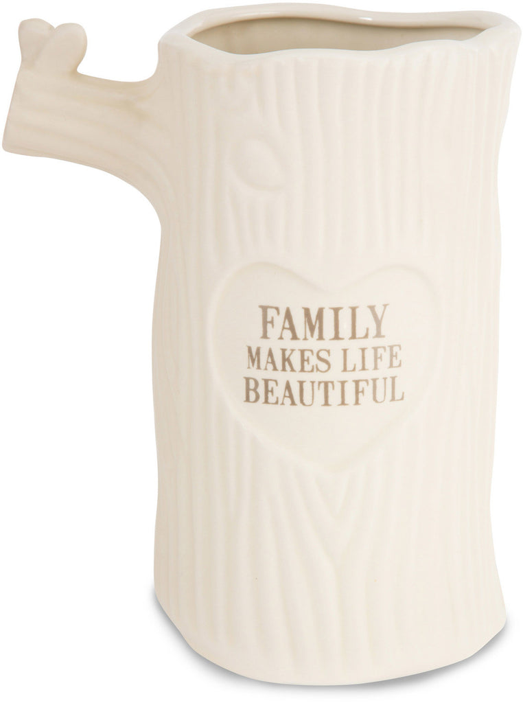 Family makes Life Beautiful - Pale & Haunting Forest Vase by Heavenly Woods - Beloved Gift Shop