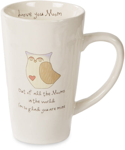 Out of all the moms in the world I'm so glad you are mine Mug by Heavenly Woods - Beloved Gift Shop