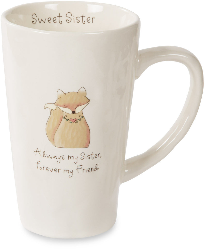 Always my sister forever my friend Coffee Tea Beverage Mug Latte Mug - Beloved Gift Shop