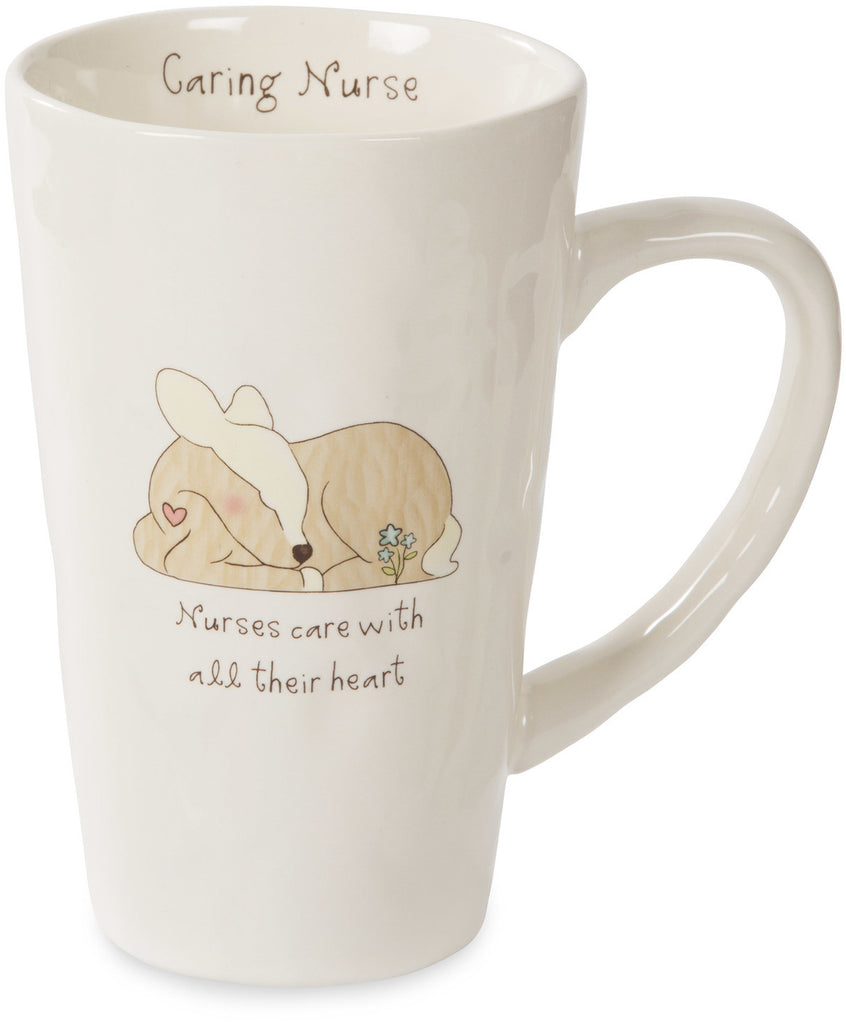 Nurses care with all their hear Mug by Heavenly Woods - Beloved Gift Shop