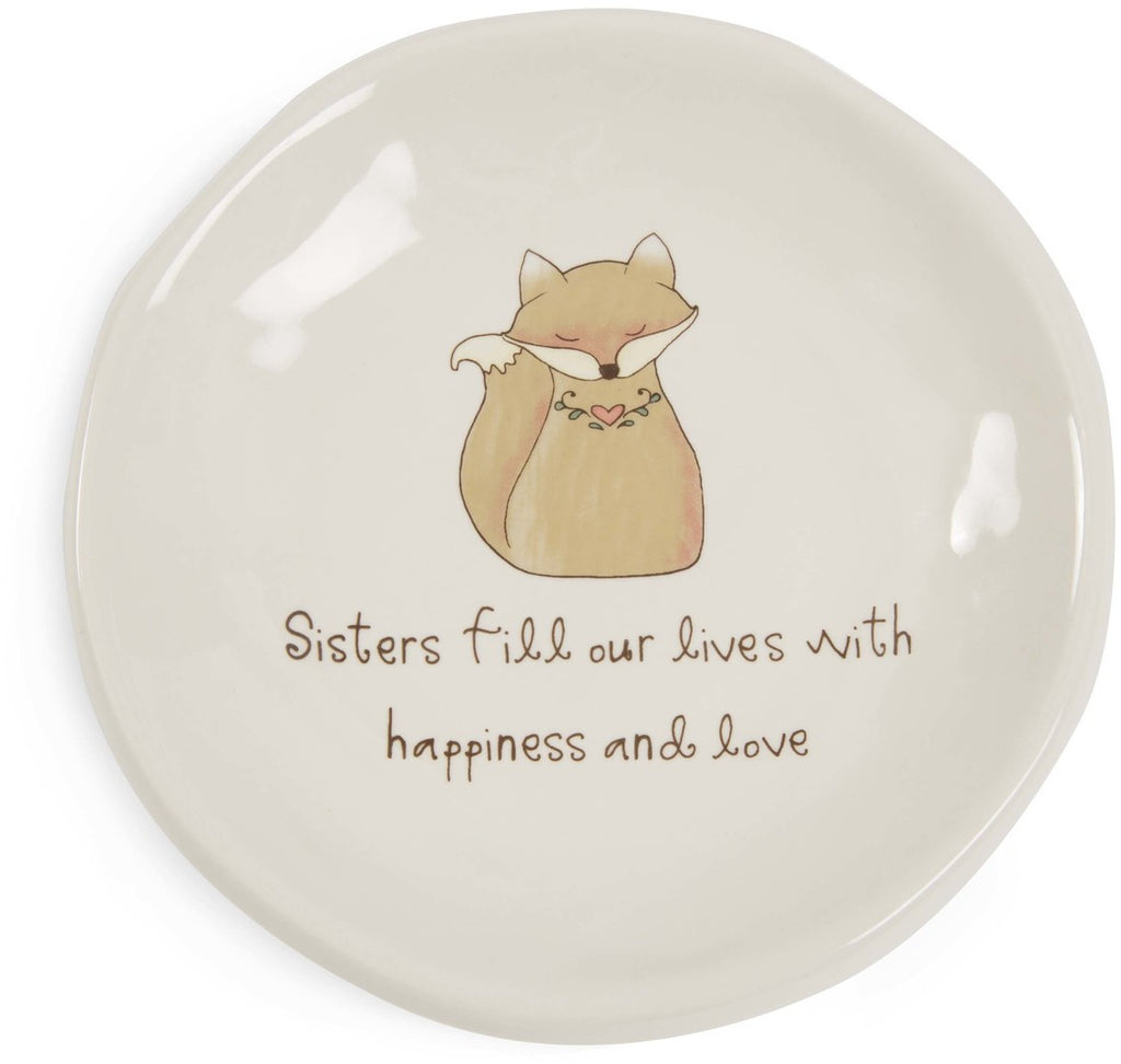 Sisters fill our lives with happiness and love Keepsake Dish Keepsake Dish - Beloved Gift Shop