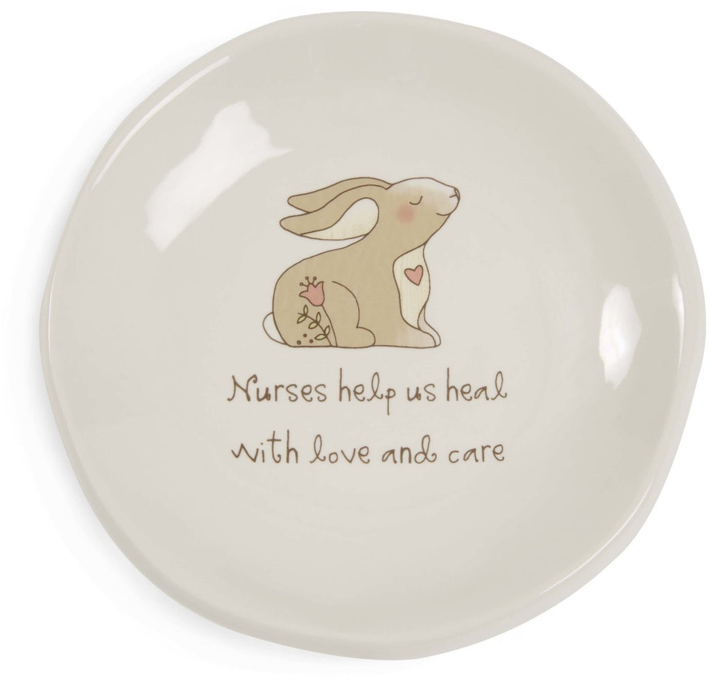 Nurses help us heal with love and care Keepsake Dish by Heavenly Woods - Beloved Gift Shop