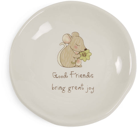 Good friends bring great joy Keepsake Dish by Heavenly Woods - Beloved Gift Shop