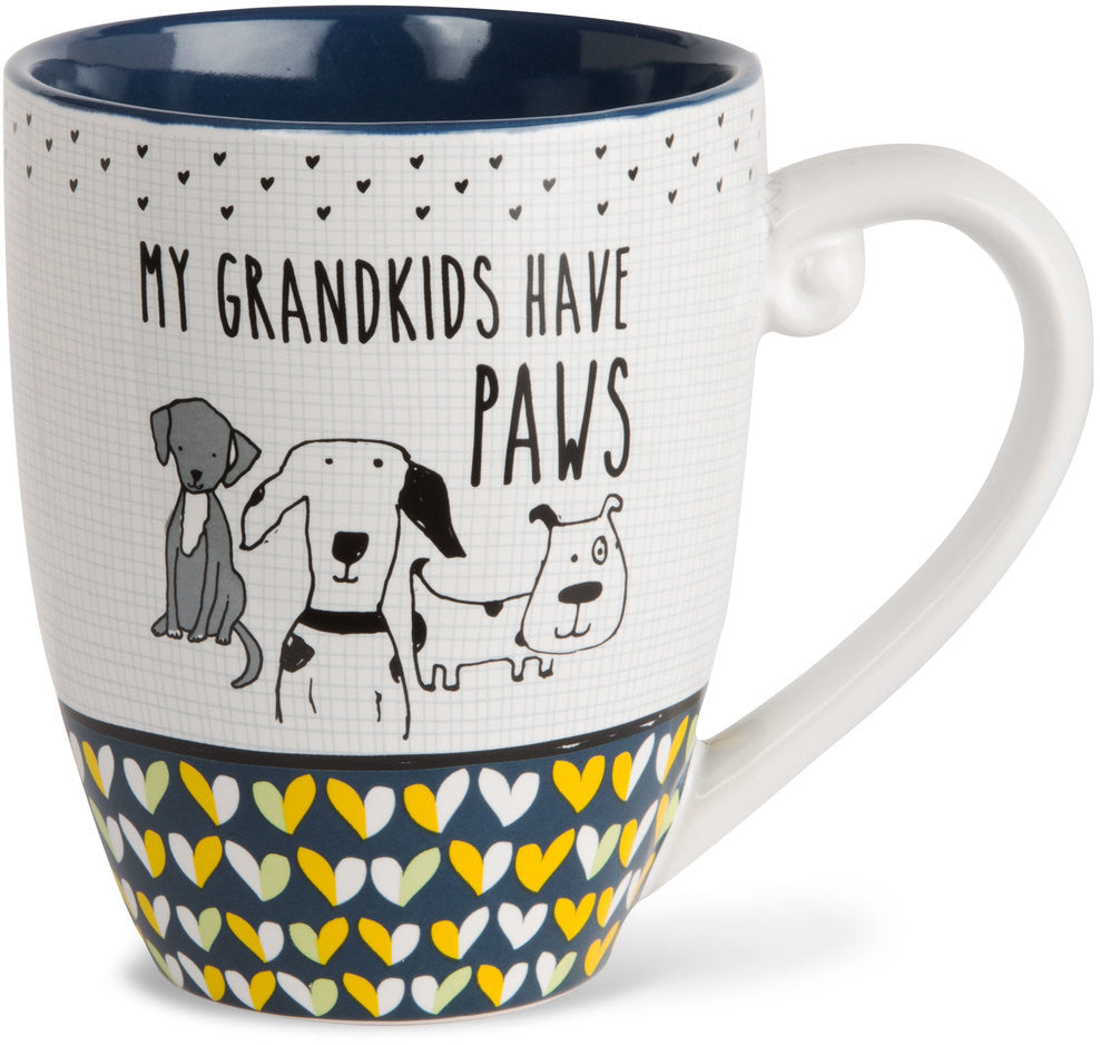 My grandkids have paws - Coffee & Tea Mug by It's Cats and Dogs - Beloved Gift Shop