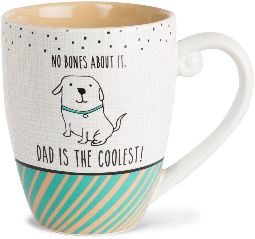 No bones about it, dad is the coolest! - Coffee & Tea Mug by It's Cats and Dogs - Beloved Gift Shop