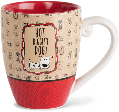 Hot diggity dog! Mug by It's Cats and Dogs - Beloved Gift Shop