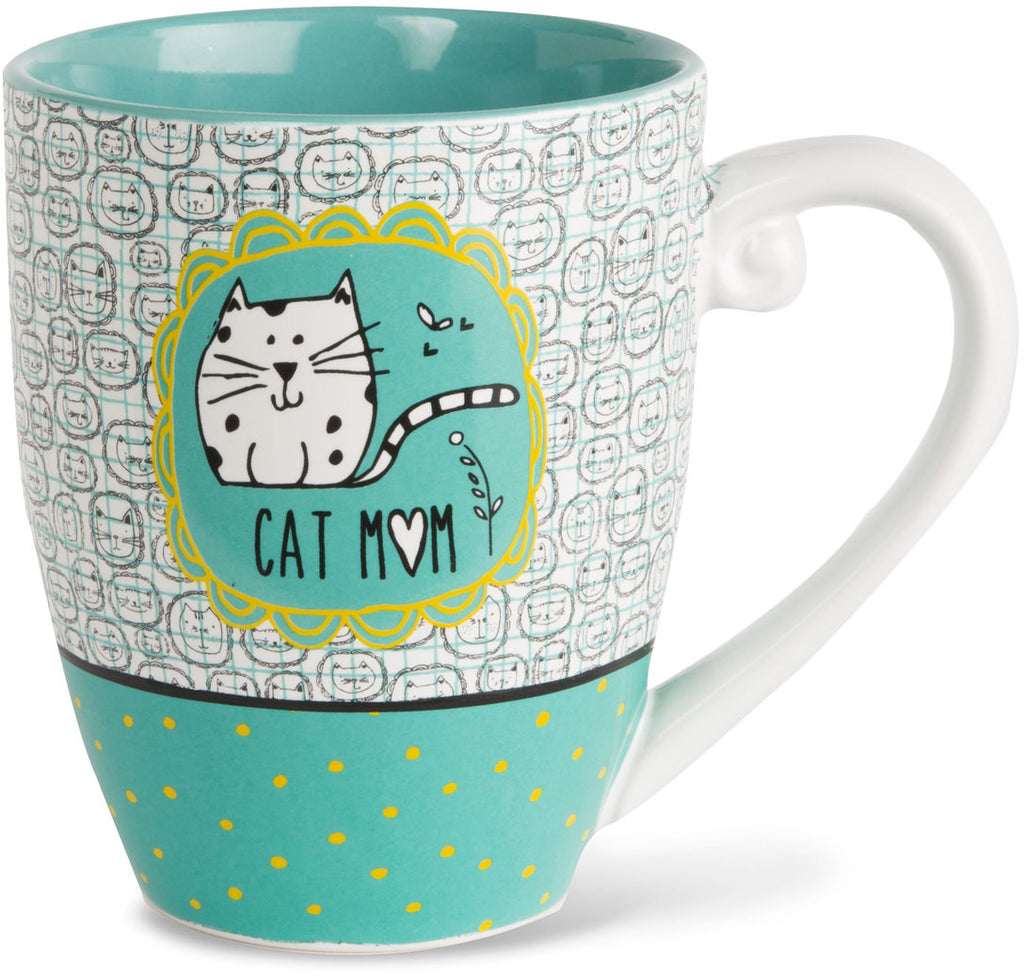 Cat mom - Coffee & Tea Mug by It's Cats and Dogs - Beloved Gift Shop