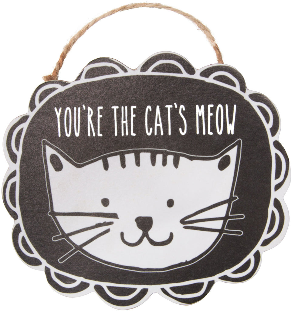 You're the cat's meow Ornament with Magnet Christmas Tree Ornament by It's Cats and Dogs - Beloved Gift Shop