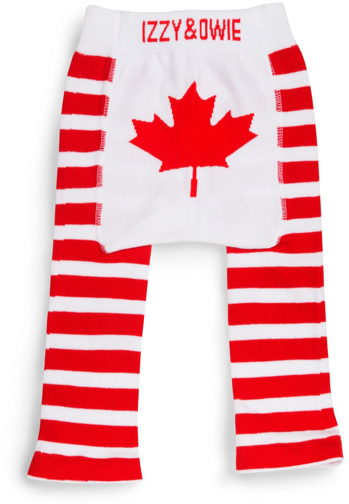 Red Maple Leaf Baby Leggings Baby Leggings Izzy & Owie - GigglesGear.com