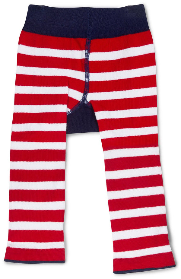 Red and Navy Shark Baby Leggings Baby Leggings Izzy & Owie - GigglesGear.com