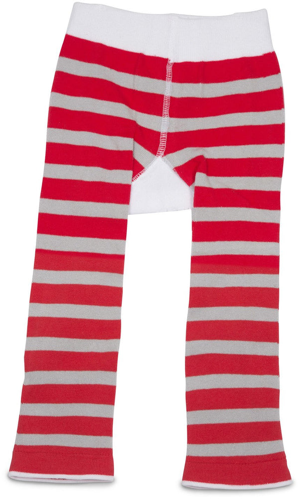 Red and Gray Hockey Baby Leggings Baby Leggings Izzy & Owie - GigglesGear.com