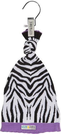 Purple Zebra Knotted Baby Hat Baby Hat Izzy & Owie - GigglesGear.com