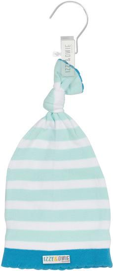 Light Blue Stripe Knotted Baby Hat Baby Hat Izzy & Owie - GigglesGear.com