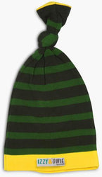 Forest Green Stripe Knotted Baby Hat