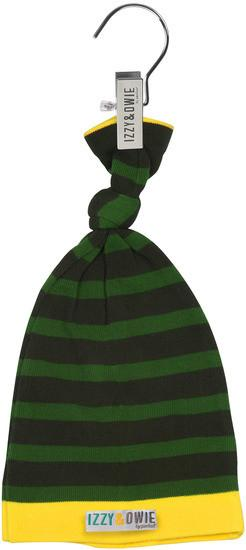 Forest Green Stripe Knotted Baby Hat Baby Hat Izzy & Owie - GigglesGear.com