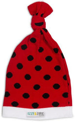 Red and Black Polka Dot Knotted Baby Hat