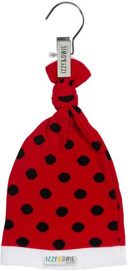 Red and Black Polka Dot Knotted Baby Hat Baby Hat Izzy & Owie - GigglesGear.com