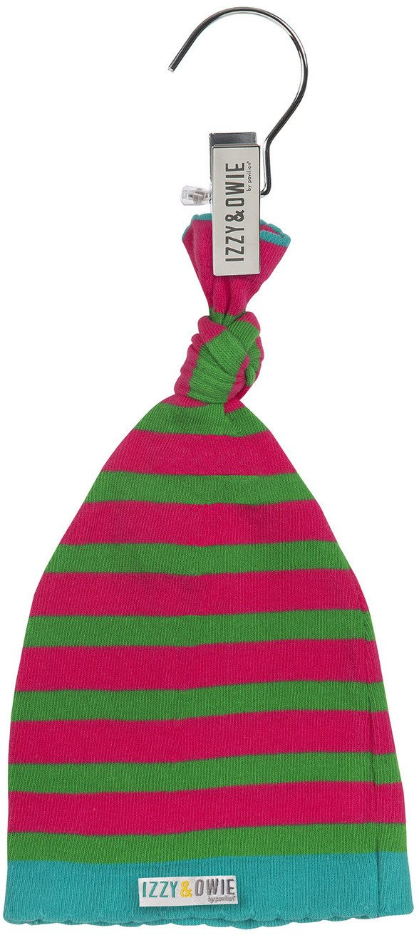 Pink and Green Stripe Knotted Baby Hat Baby Hat Izzy & Owie - GigglesGear.com