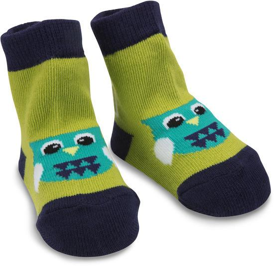 Green and Navy Owl Baby Socks Baby Socks Izzy & Owie - GigglesGear.com