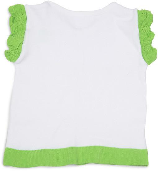 Lime Green and White Ruffled Baby T-Shirt Baby Shirt Izzy & Owie - GigglesGear.com