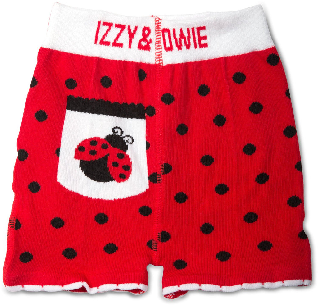 Red and Black Ladybug Baby Shorts Baby Shorts Izzy & Owie - GigglesGear.com